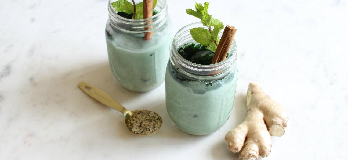Iced-Dragon Hemp Oil Latte Recipe hemp-recipe-1 | Savage Cabbage